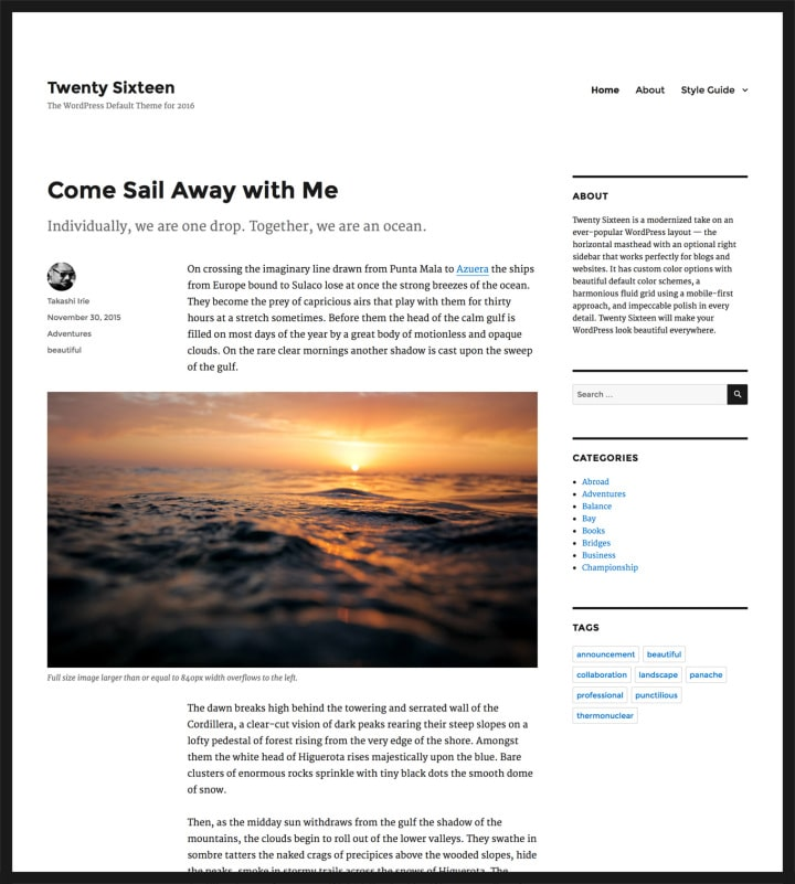 twentysixteen-wordpress