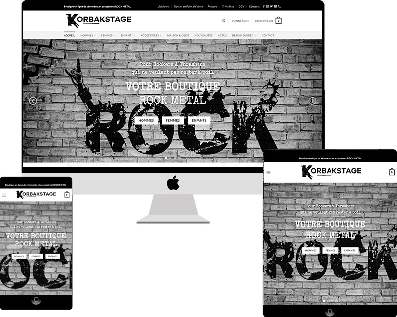 KORBAKSTAGE BOUTIQUE ROCK METAL