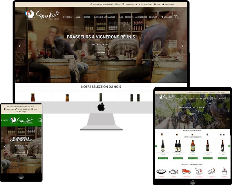 Capsulie vente en ligne de vins et bières de France